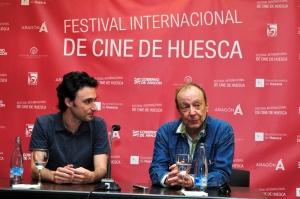 Manuel Asín, editor de El Intermedio, que publicará la integral de Arrietta con el apoyo del festival, junto a Adolpho Arrietta (1)
