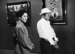 Setsuko Hara y OZU rodando The End of Summer 1961