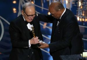 composer-morricone-accepts-the-oscar-for-best-original-score-for-the-hateful-eight-from-presenter-jones-at-the-88th-academy-awards-in-hollywood